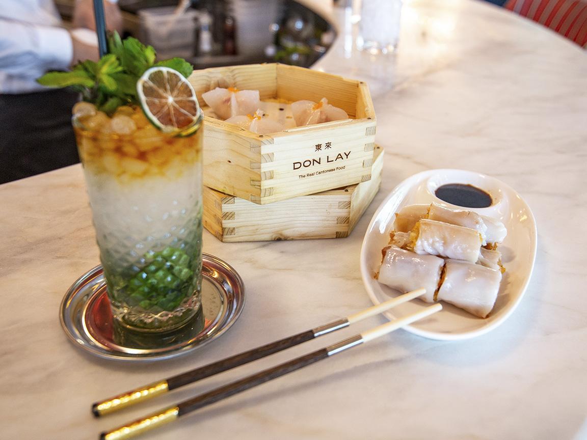Chinese Bar-Canelones de langostino crujiente y hakao de bogavante